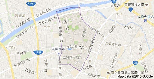 鄭子寮重劃區位置